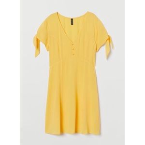 New H&M Yellow v Neck dress